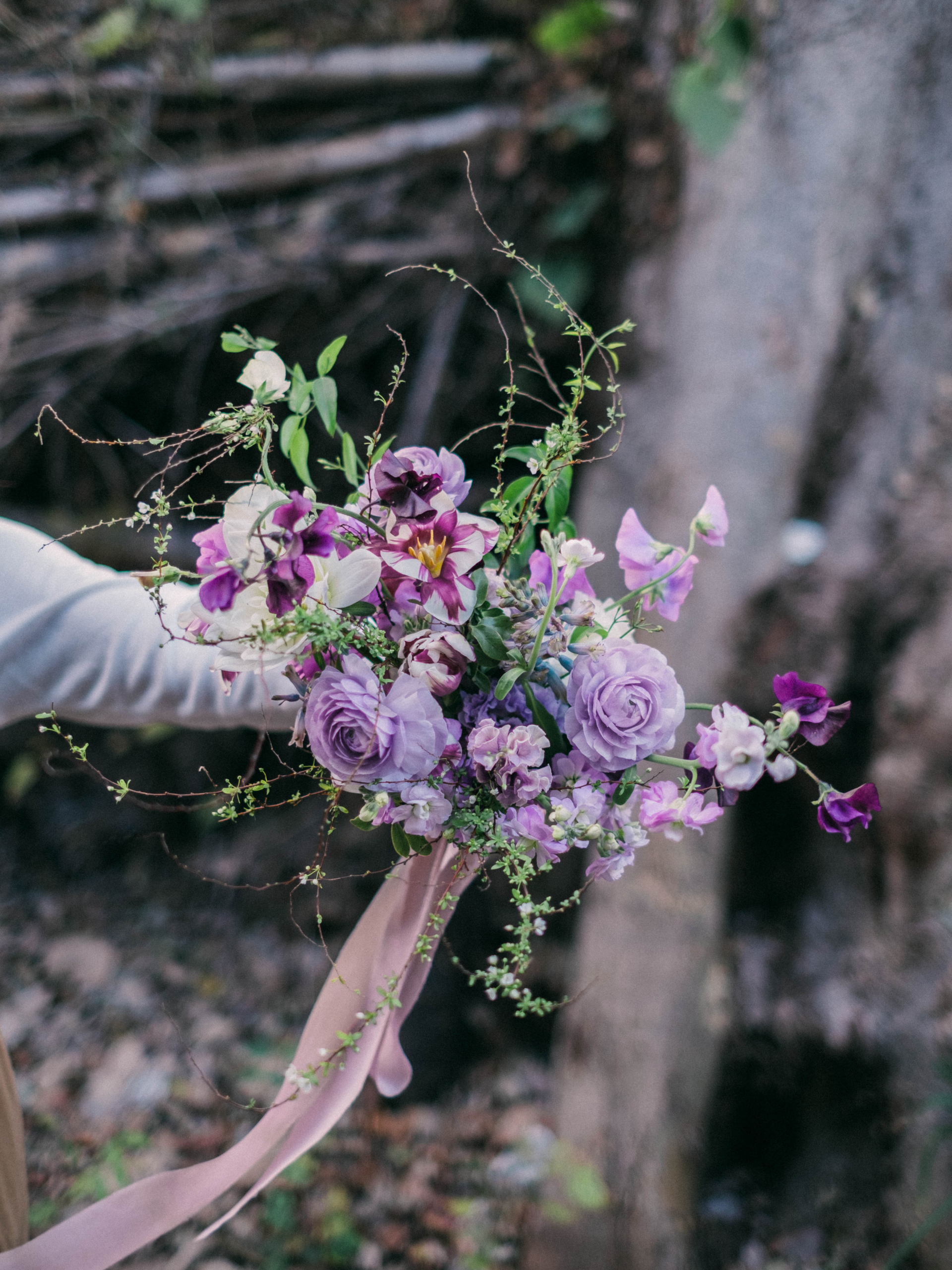 Purple bridal bouquet パープルウェディングブーケ