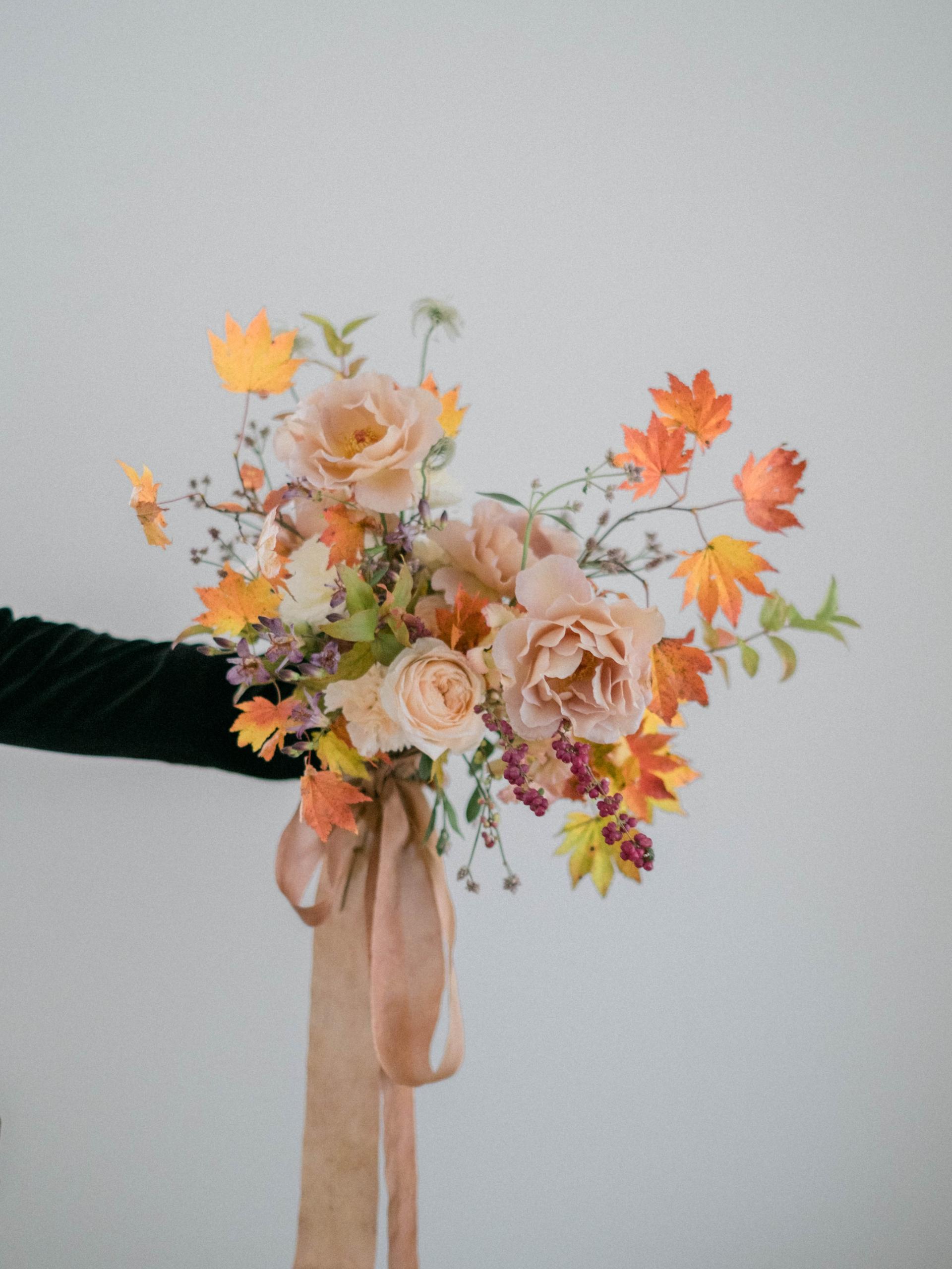 Autumnal bridal bouquet 秋のウェディングブーケ